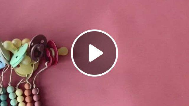 Mushie Pacifier Clips - Video & GIFs | pacifier clip, baby pacifier clip, pacifier clips diy, boy pacifier, teething pacifier, pacifier clips, pacifier holder, pacifier clip tutorial, binky, pacifier storage, best baby bibs, baby due date calendar
