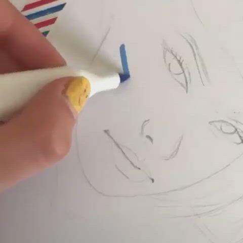 Amazing Painting - Video & GIFs | diy art painting,diy canvas art painting,amazing art painting,art drawings sketches simple,bullet journal art,diy canvas art,copics,resin art,love art,art tutorials,diy art,creative art