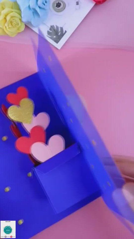 3d greeting card - Video & GIFs | paper crafts diy kids,christmas card crafts,diy valentines crafts,cool paper crafts,paper crafts origami,paper flowers craft,valentine crafts,homemade valentines,diy crafts hacks,diy crafts for gifts,diy cards for teachers