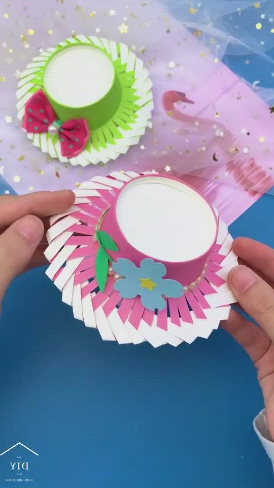 Hat or candy basket - Video & GIFs   paper crafts diy tutorials,paper crafts diy kids,paper crafts diy,diy crafts hacks,diy crafts for gifts,diy home crafts,creative crafts,handmade crafts,easy crafts,paper flowers craft,paper crafts origami,paper crafts for kids