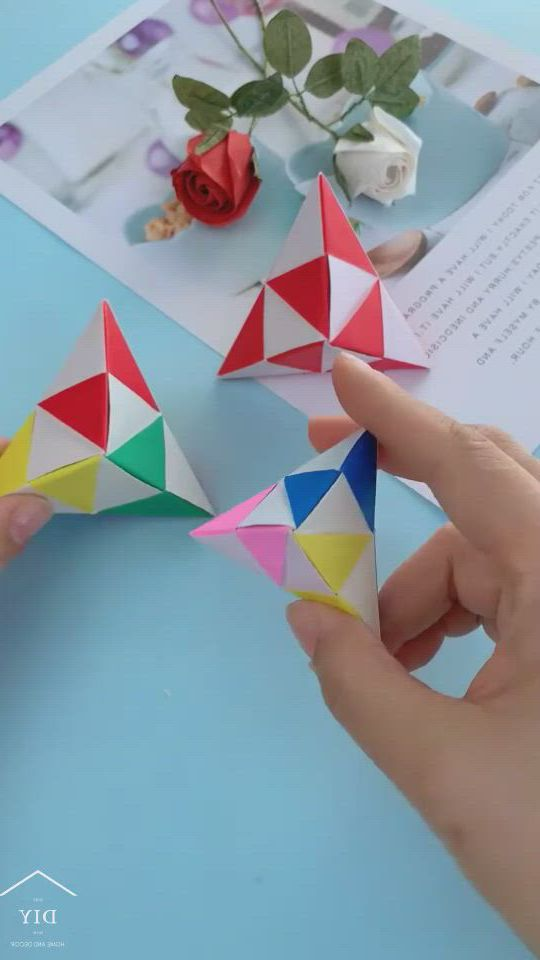 Origami fingertip toys - Video & GIFs   paper crafts diy kids,handmade paper crafts,origami crafts,origami toys,origami gift box,origami ,paper crafts origami,origami cube,diy origami,diy crafts for girls,diy crafts to do,diy craft projects