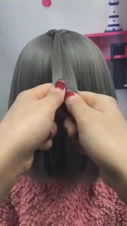 Easy Hair Tutorial - Video & GIFs | hair tutorials for medium hair,hair hacks,hair stylist life,easy hairstyles for medium hair,braids for short hair,braided hairstyles,hair up styles,short hair styles easy,life hacks hair,hair style vedio,long hair