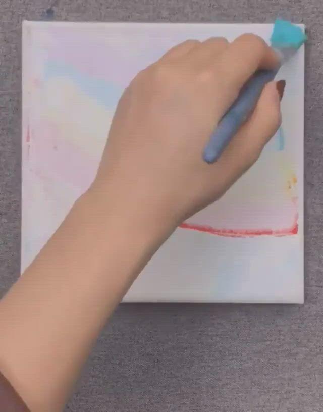 Amazing innovative oil painting idea - Video & GIFs | diy canvas art painting,diy art painting,creative painting,mini canvas art,diy canvas,acrylic painting canvas,hippie painting,art painting gallery,floral artwork,diy art,crafting,paintings