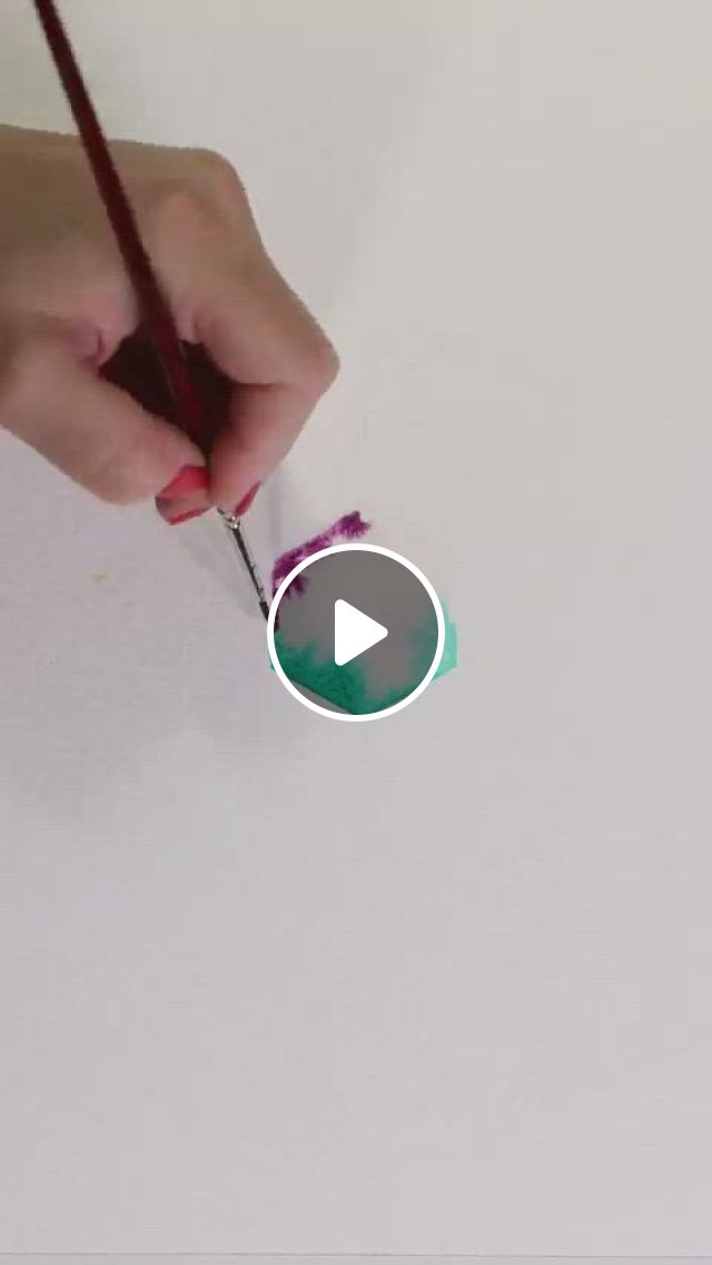 Watercolor Abstract Pattern Painting Idea - Video & GIFs | watercolor art lessons, diy canvas art painting, geometric design art, watercolor painting techniques, watercolor paintings, watercolour, watercolor design, watercolor art landscape, art drawings sketches simple, diy canvas art, art tutorials