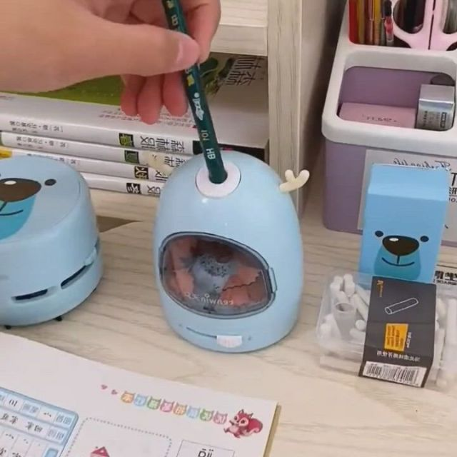 Electric Pencil Sharpener, Eraser and Vacuum Set,christmas gift ideas for kid