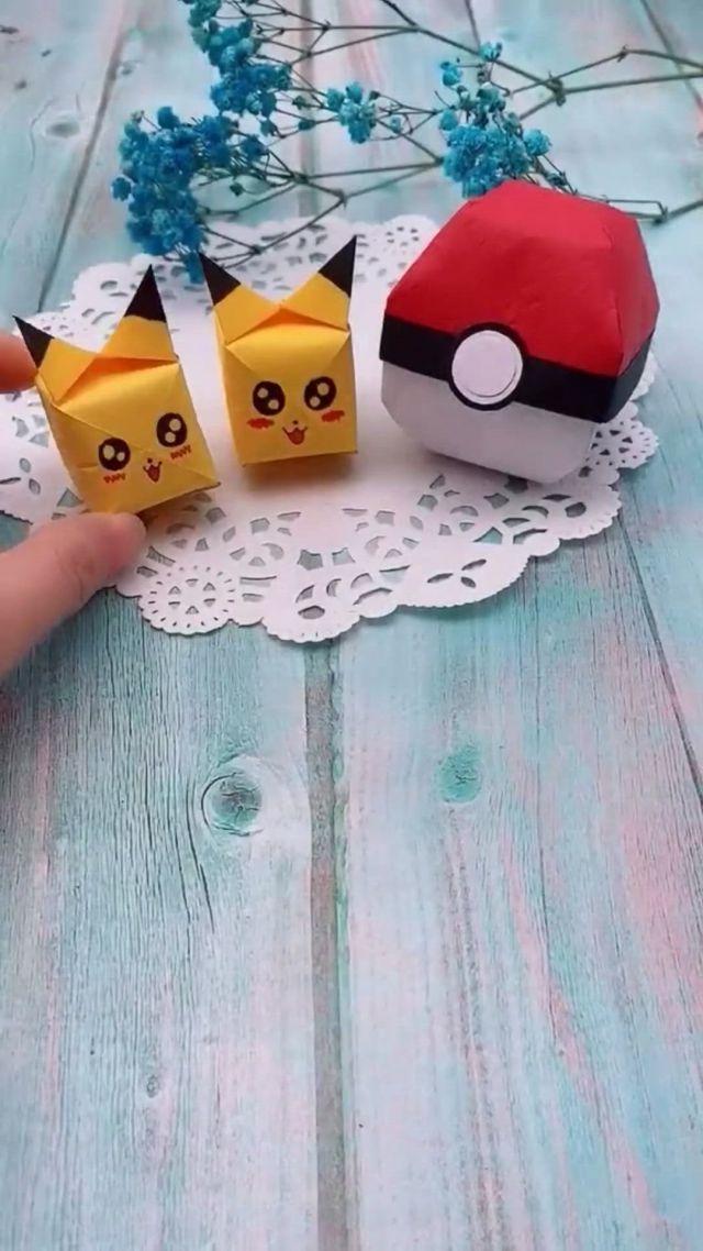 Creative Paper DIY Handy Crafts, Pikachu origami