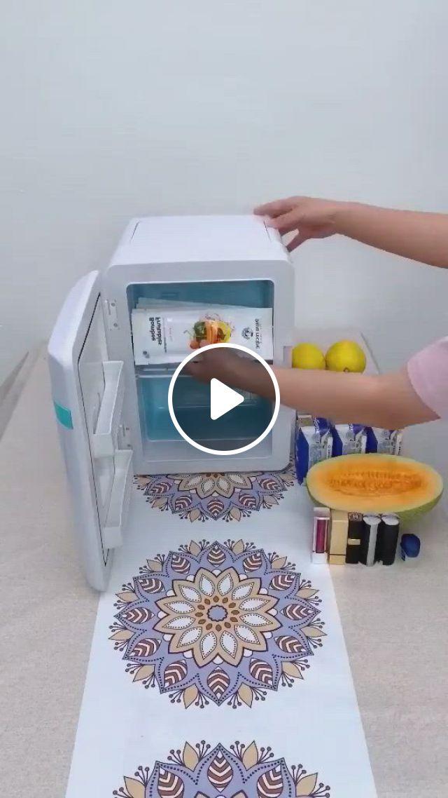 Mini Refrigerator - Video & GIFs | ideias de invencoes, cozinha de acampamento, coisas legais para comprar
