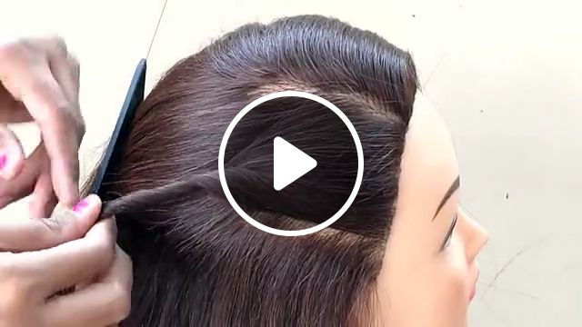 Party Wear Hairstyle For Medium Hair For Girls - Video & GIFs | party wear hairstyle for medium hair, party hairstyles, easy hairstyles, hairstyles for medium hair, easy part hairstyle for girls, hairstyle for girls, hairstyle for party, hairstyle for party medium hair, party hairstyles for medium hair