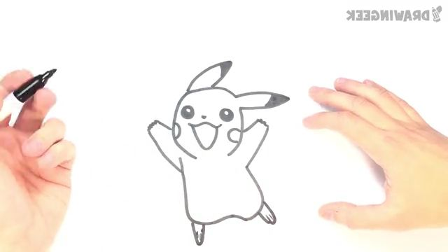 How to draw a Pikachu - Video & GIFs   pikachu,drawing pikachu,diy draw pikachu,how to draw pikachu,pikachu drawing tutorial,pikachun draw,pikachu draw step by step,pikachu drawing lesson,drawing lessons,drawing tutorials,how to draw pikachu face,pikachu drawing cute,pikachu drawing sketch,how to draw pikachu in steps