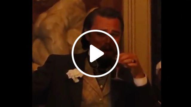 Leonardo DiCaprio Laughing meme, calvin candie, dicaprio django unchained, funny, funny memes, hangover train, django meme template relatable memes, laughing django, laughing template, meme generator