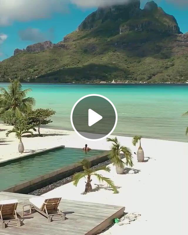 Beautiful View Of Bora Bora, French Polynesia - Video & GIFs | bora bora, cool places to visit, bora bora honeymoon, best honeymoon, caribbean honeymoon, royal caribbean, places to travel, places to go, amazing destinations, travel destinations