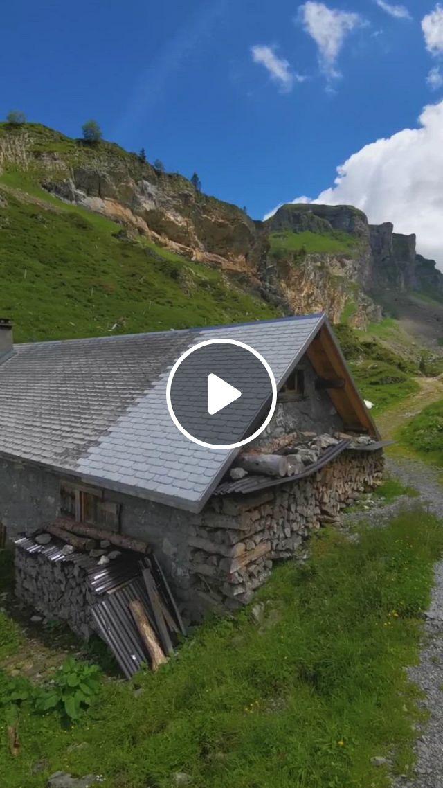Farm In The Swiss Mountains Switzerland Europe - Video & GIFs | beautiful places nature, beautiful places to travel, beautiful places to visit, new hike, switzerland itinerary, wedding backdrop design, swiss cheese, mountain landscape