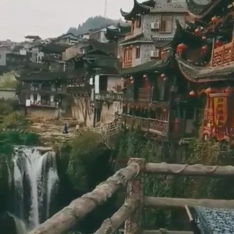 Furong, hunan, china - Video & GIFs | beautiful places nature,travel around the world,places around the world,around the worlds,beautiful places,travel and tourism,travel destinations