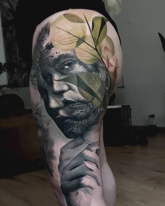 Big tattoo - Video & GIFs   tattoo,realism tattoo