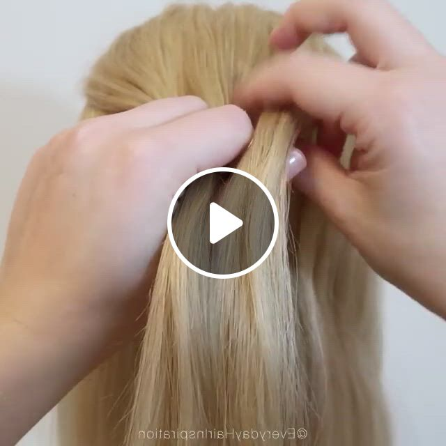 Amazing Braid - Video & GIFs | bun hairstyles for long hair, braids for long hair, hair tutorial, baby girl hairstyles, dance hairstyles, pretty hairstyles, braided hairstyles, hairstyle men, style hairstyle, hairstyles 2018