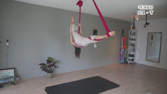 AERIAL HAMMOCK practice sequence Imagine Dragons Radioactive - Video & GIFs | aerial hammock,aerial dance,aerial yoga poses