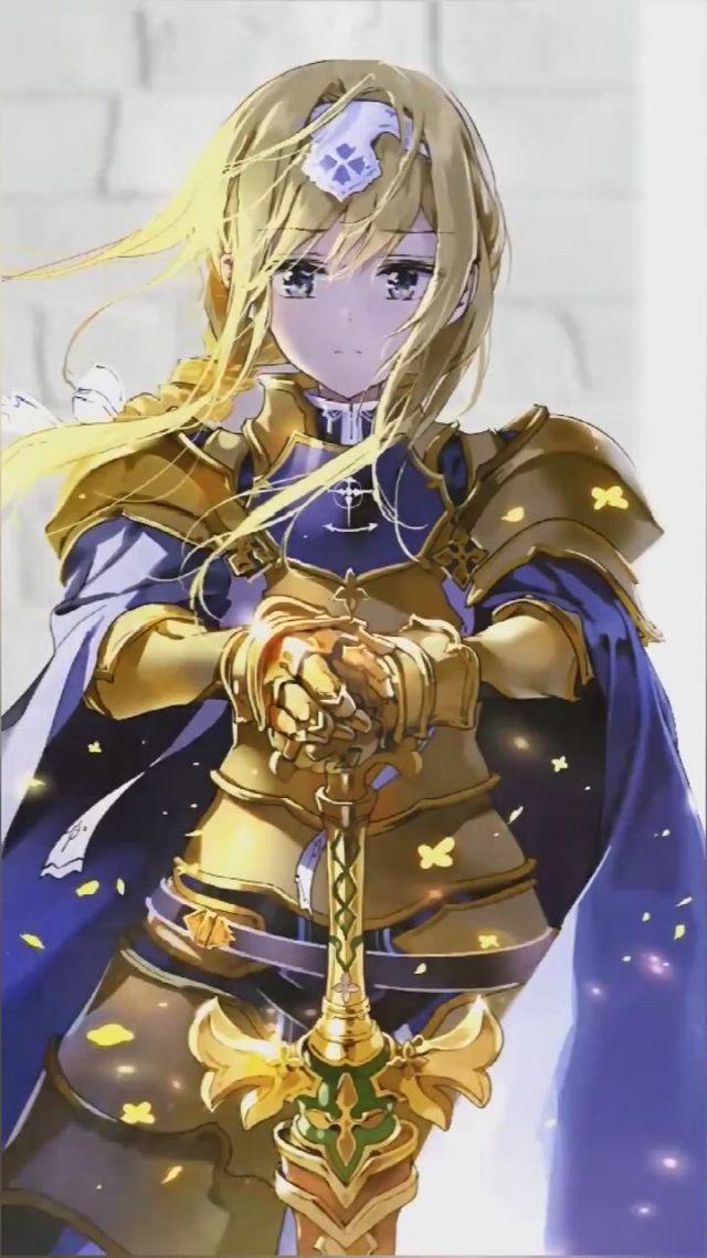 Alice Zuberg Sword Art Online Alicization - Video & GIFs   ilustrasi karakter,animasi 3d,animasi,online art,anime fandom,character art,anime art,sword art online kirito,anime fanart,kawaii anime