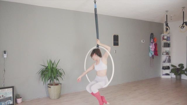 Exist For Love by AURORA AERIAL HOOP practice sequence - Video & GIFs | aerial dance,aerial hoop,dance poses,acro,pole dance,dancers,flexibility,house,yoga routine