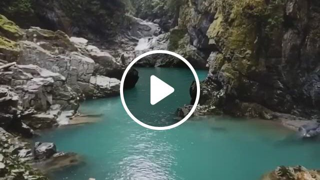 Jumping In This Blue Gatorade Water In This Secluded Spot In Canada - Video & GIFs | beautiful places, beautiful landscapes, travel dreams, natural world, places to visit, traveling, canada, river