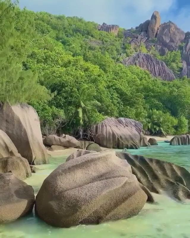 La digue island in the seychelles - Video & GIFs   beautiful nature scenes,beautiful landscapes,beautiful rocks,vacation places,dream vacations,nature gif