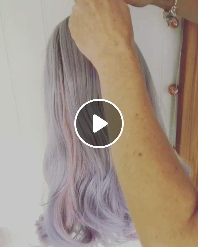 Boho Updo - Video & GIFs | hair styles, silver blonde hair, short grunge hair, hair color purple, hair dye colors, green hair, blue hair, pastel hair colors, lilac grey hair, blonde hair for brunettes, platinum blonde hair