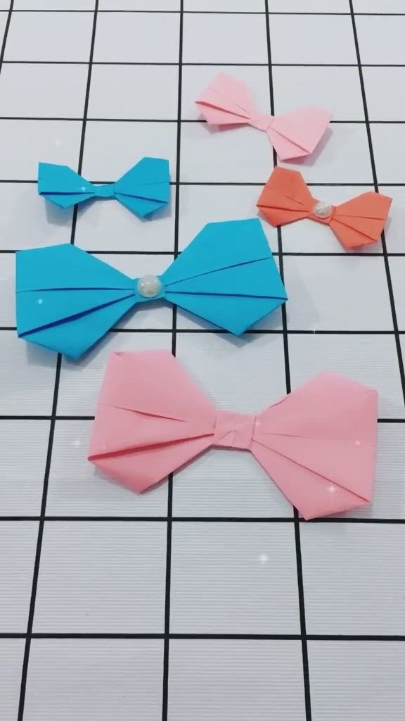 Origami Simple Bow Easy Step By Step