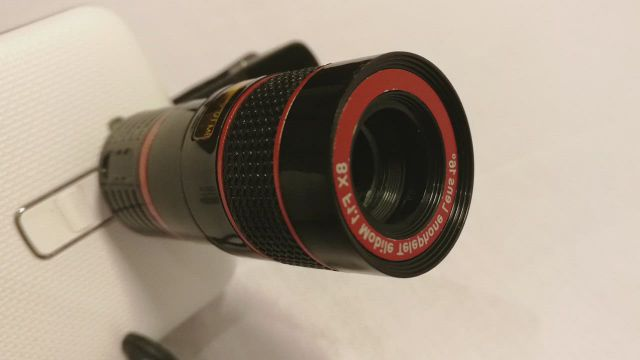 Optical 8X Zoom Phone Telescope Camera Lens unboxing and test photo compare