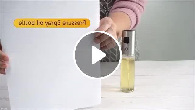 Transparent Oil Sprayer Dispenser For Cooking - Video & GIFs   cooking, bbq, sprayers, oil bottle, cool kitchens, barbecue, appliances, salad, stainless steel, baking, easy, bakken