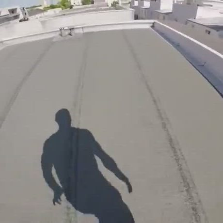 Parkour from rooftop to ground