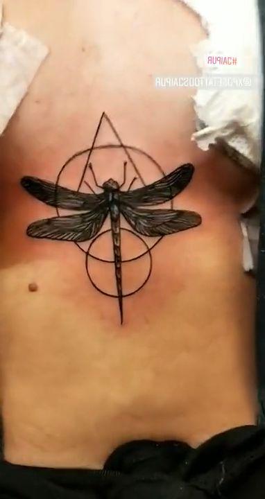 Cute dragonfly tattoo