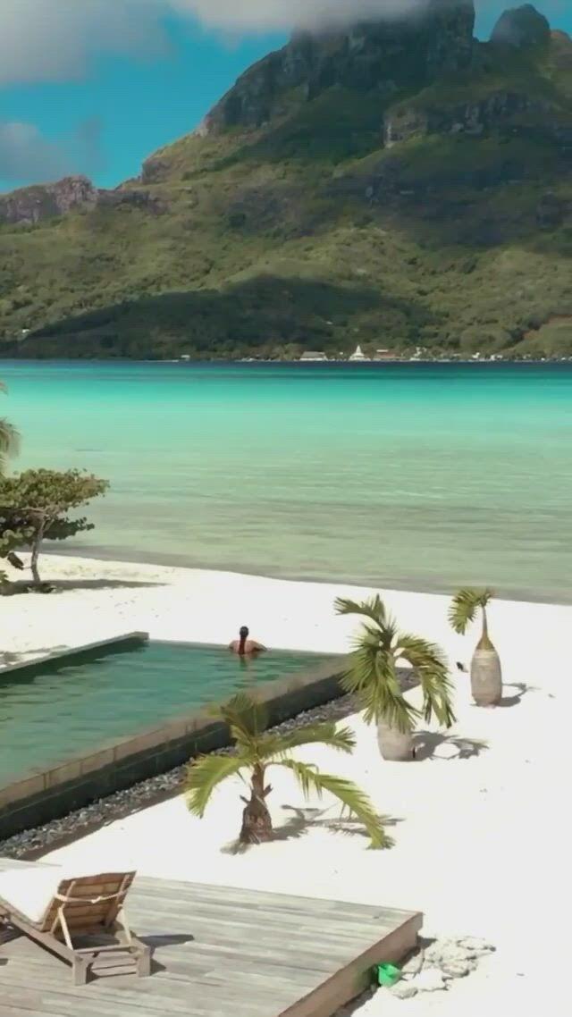 Dreaming of bora bora - Video & GIFs   ferias dos sonhos,lindas paisagens,lugares para ferias,tahiti,bora bora honeymoon,best all inclusive honeymoon,beautiful hotels,beautiful places