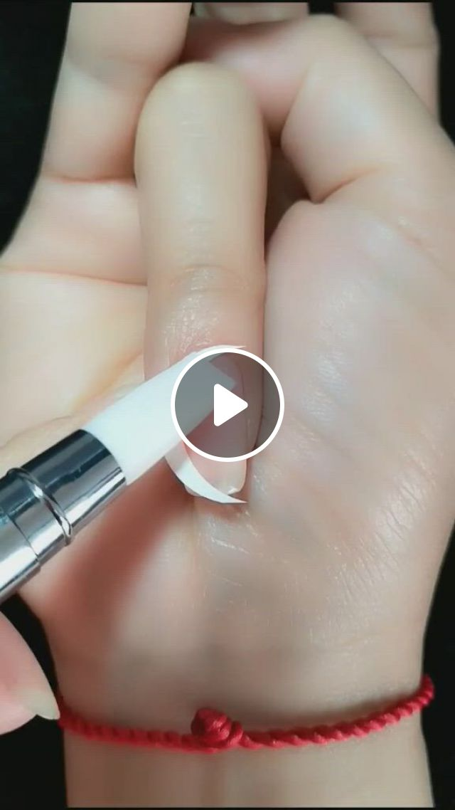 Crescent Nail Art - Video & GIFs | fancy blouse designs, natural medicine, pedi, cute drawings, coffin nails, watercolor art, nail designs, nail art, hands