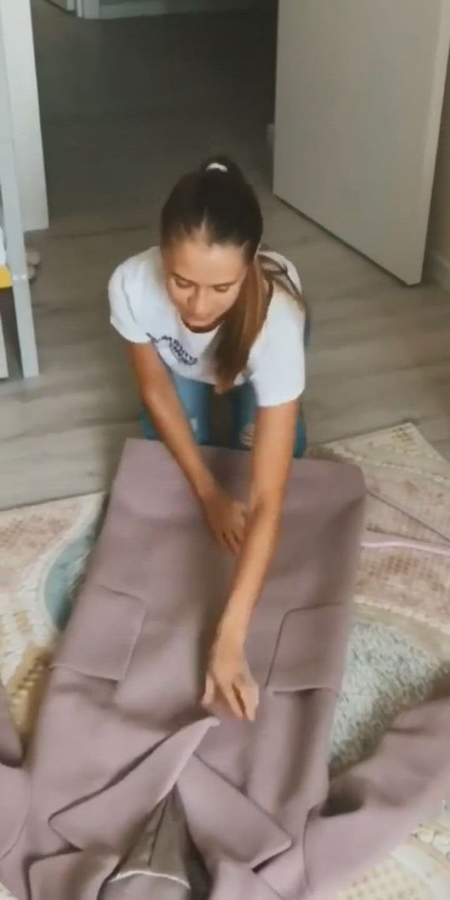 Folding Techniques for Long Coats, Hoodies