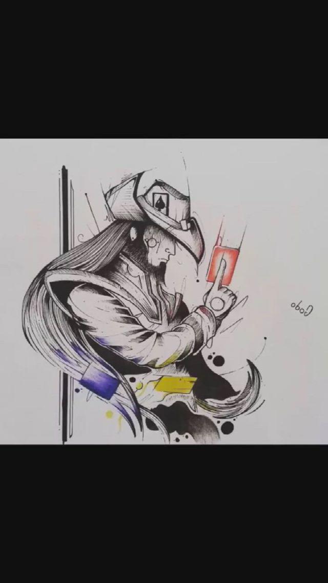 Anime character tattoo manuscript