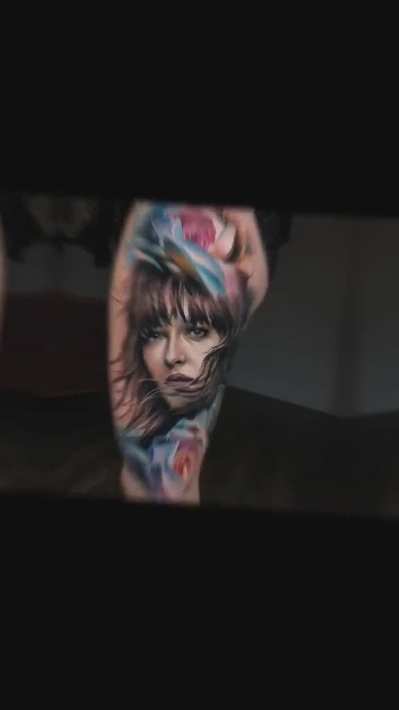 Color realistic tattoo