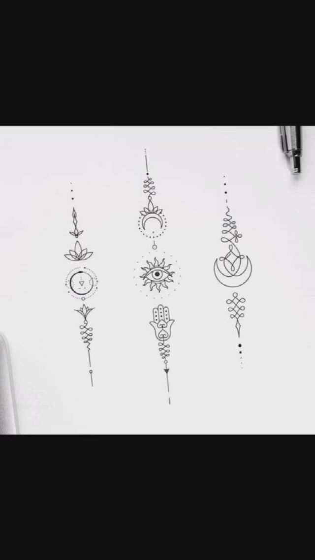12 Meaningful And Inspirational Small Tattoos Manuscript For Girls Video Gifs Red Ink Tattoos Hot Tattoos Body Art Tattoos Small Tattoos Behind Ear Tattoos Spine Tattoos Meaningful Symbol Tattoos