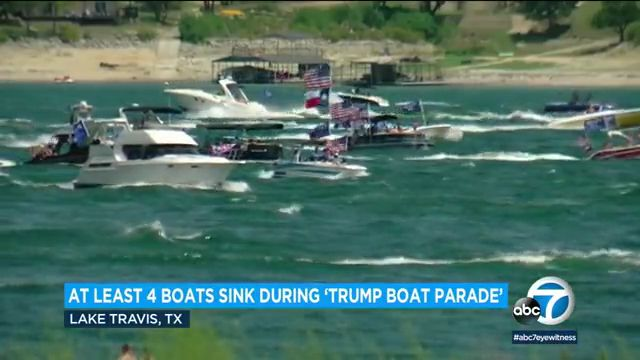 Several boats sink during Texas parade supporting, president trump, officials say, trump support, austinkay jones, county sheriff's, travis county, sheriff's office, bob daemmrich, austin texas, watercraft, cbs46, distress, lake, lake travis, donald trump