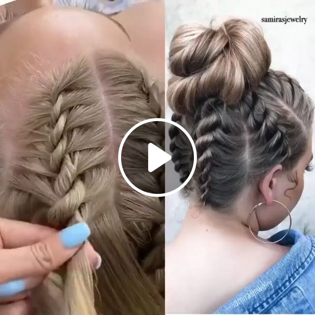 Beautiful Hairstyles for wedding, natural hair, bridal makeup, bridal wedding hair, braid gown bun, braided hairstyles, hair makeup