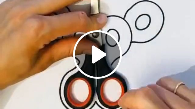 Draw Tiger from scissors, diy and crafts, handmade, ideas for kids, art lovers, draw tiger step by step, tigers drawing, draw and paint tiger