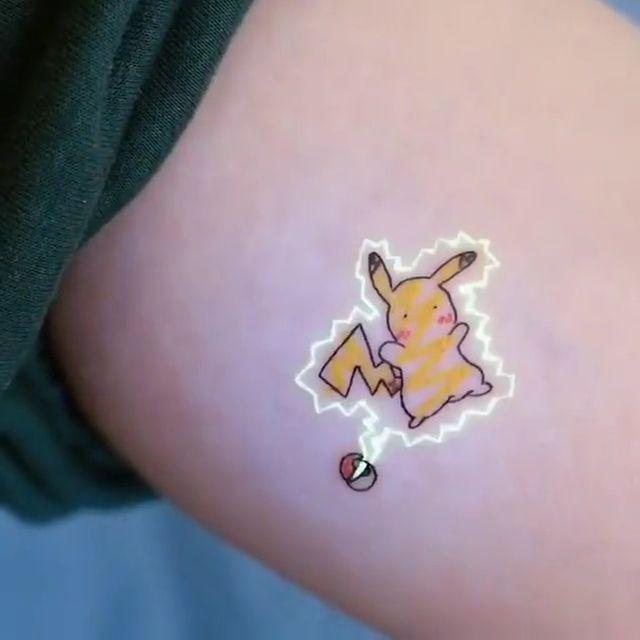 Cute pikachu tattoo