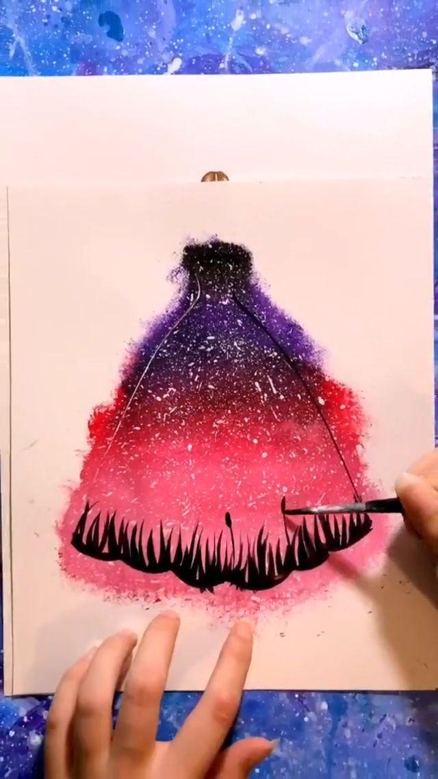 Barbie Dress Painting