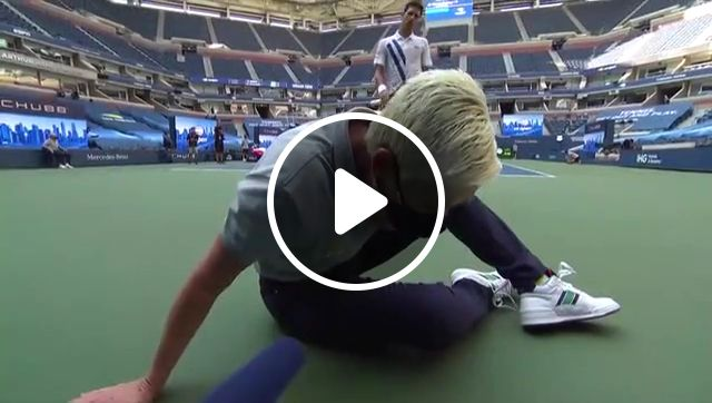 Novak Djokovic defaulted from US Open All Scenes, novak djokovic, usopen 2020, stupidly hitting, inadvertently, unbelievable, lineswoman in the throat with a ball, official no choice but to default, the rule is the rule, woman is ok, i cant breathe, woman cant breathe