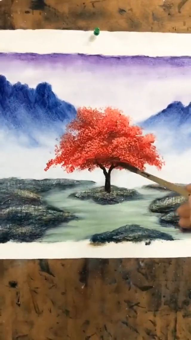 Beautiful landscape tree