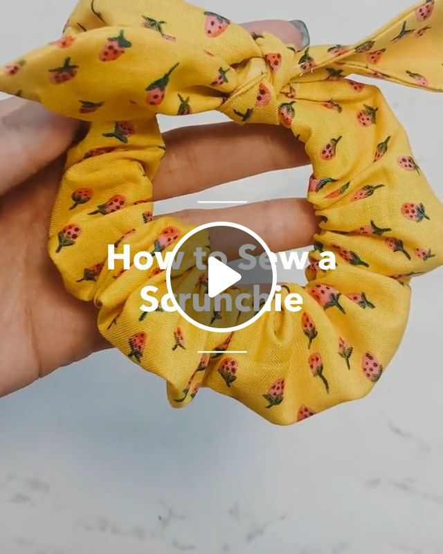 How To Sew A Scrunchie, scrunchie pattern, basic sewing supplies, iron seam, sew bow, hair tie, bow pattern