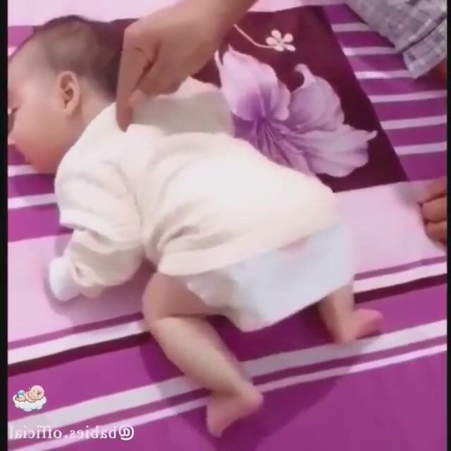 Cute baby moment