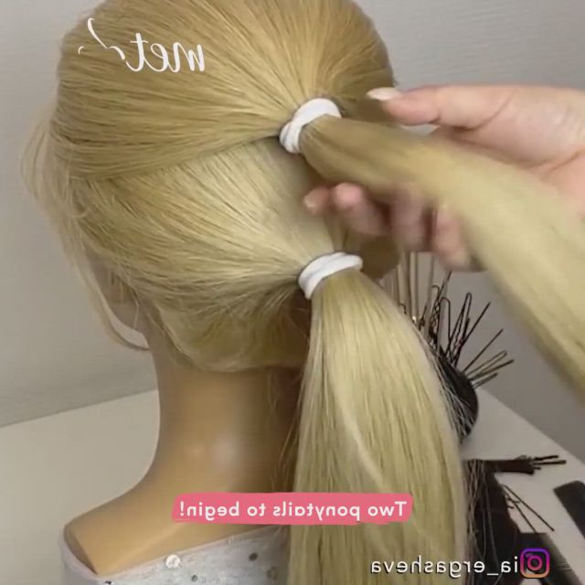 Pretty hairdo - Video & GIFs | braided hairstyles updo,hair styles,thick hair styles,dance hairstyles,wedding hairstyles for long hair,cute hairstyles,female hairstyles,easy hairstyle,style hairstyle,hairstyles 2018,hairdos