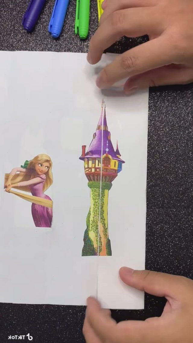Rapunzel folding CARD - Video & GIFs | disney princess makeover,funny disney memes,cute cartoon images,disney art,disney movies,craft instructions for kids,comedian quotes,baby furniture sets,all disney princesses,disney theory,frozen sisters