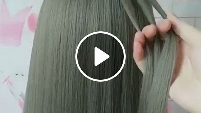 Hairstyle Idea For Girls To Tryout - Video & GIFs | hair styles, easy hairstyles, hair tutorial, mehndi hairstyles, braided hairstyles, wedding hairstyles, cool hairstyles, gorgeous hair color, hair color pink, bridal hair and makeup, hair makeup, long hair wedding styles