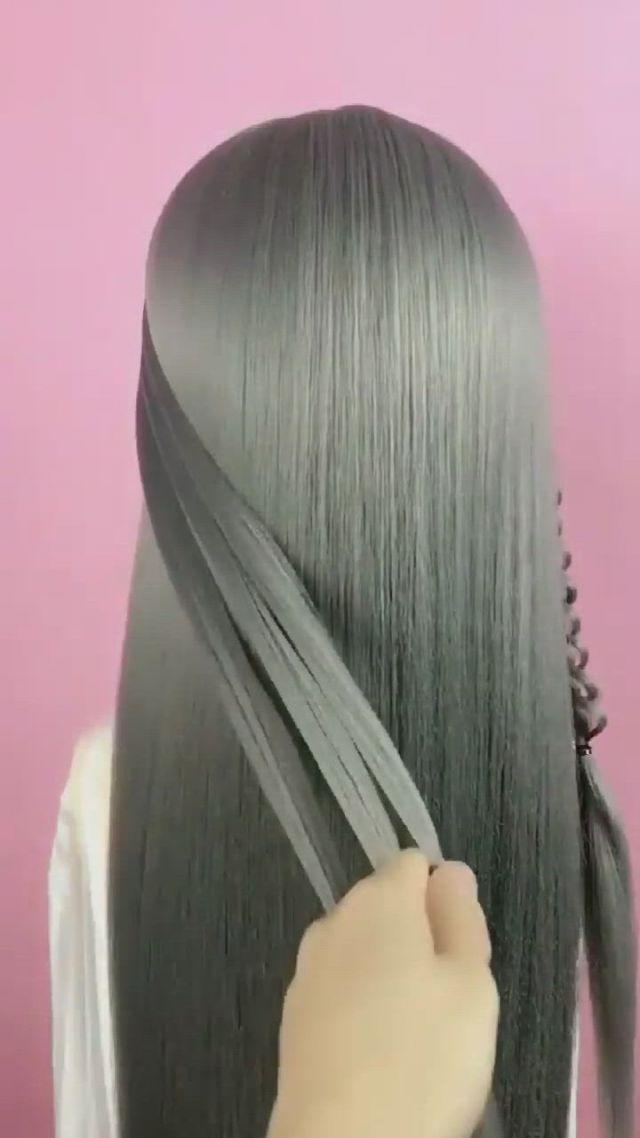 Hairstyle Tutorial 1710 - Video & GIFs | hair tutorial,hair styles,hairstyle,hairstyles,long hair styles,beauty,hair cuts,hairdos,hair makeup,long hair hairdos,cosmetology,long hairstyles