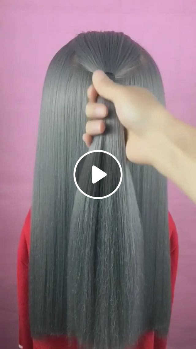 Hairstyle Tutorial 1758 - Video & GIFs | hair tutorial, hair styles, hairstyle, paper crafts, diy crafts, diy tutorial, tutorials, hairstyles, long hair styles, beauty, fashion, hairdos